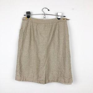 Peter Nygard Skirts - Peter Nygard Tan with Gold Accents Skirt